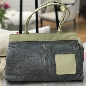 Diesel leather and fabric handbag